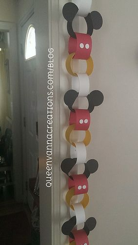 Mickey Mouse Disney paper chain