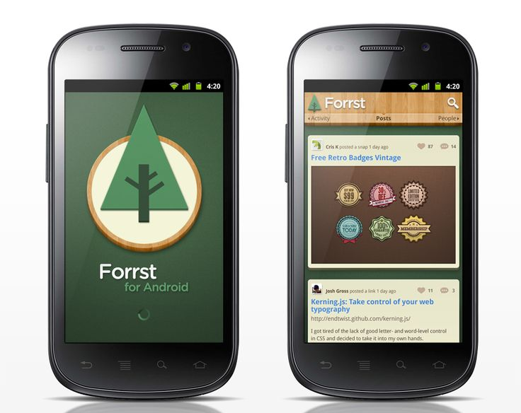 forrst android app ui design mockups love the design