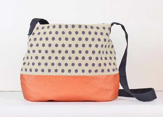 doatbit.etsy.com  Charcoal spots and copper bottom shoulder/messenger bag is made from hemp and organic cotton.