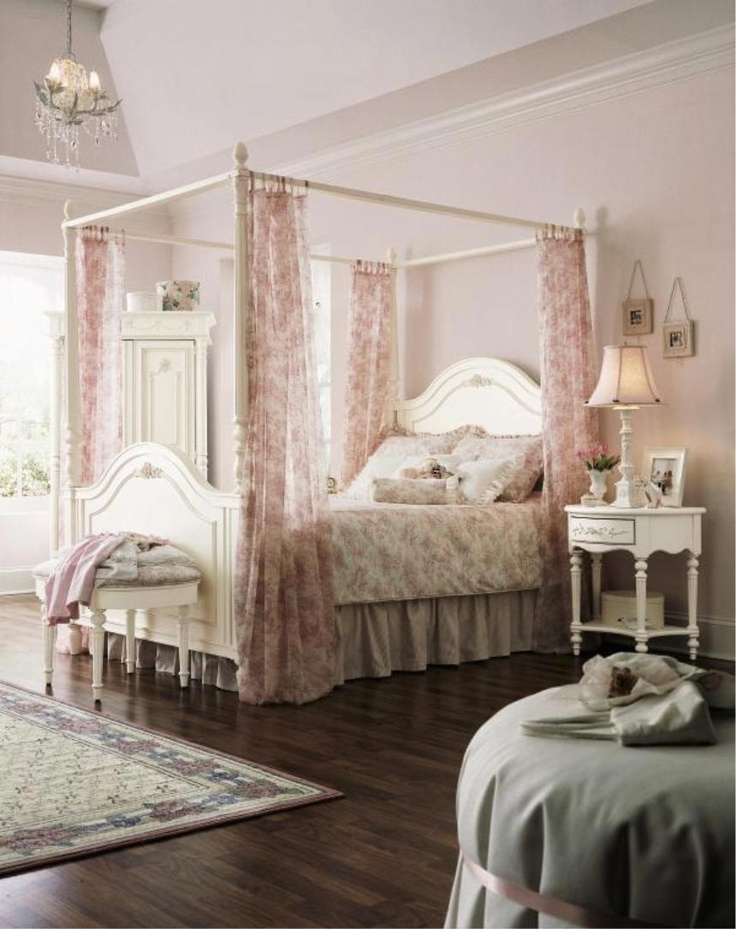 20 best images about canopy bed on pinterest curtain rods diy canopy and ceiling curtain rod - Canopy bed sets for sale ...