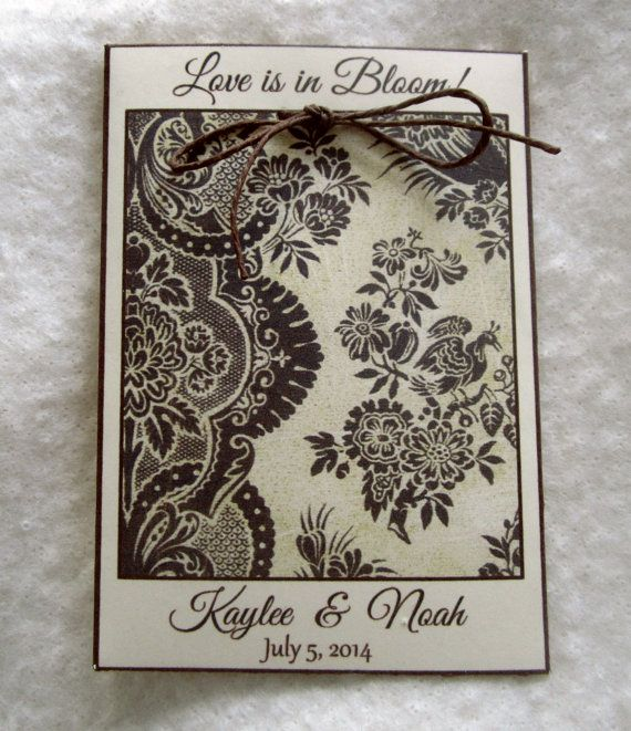 PERSONALIZED Rustic Wedding Favor Seed Packets