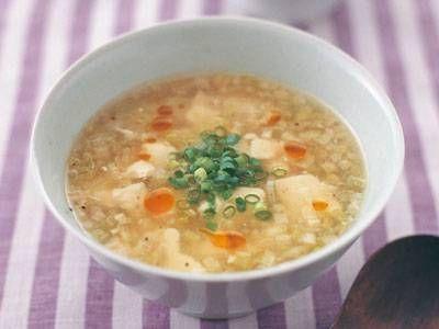 くずし豆腐とたっぷりねぎのスープ