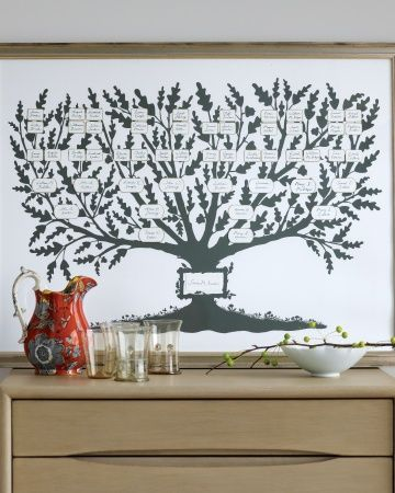 Giving Tree Family Tree: How to use the template from Martha stewart living.