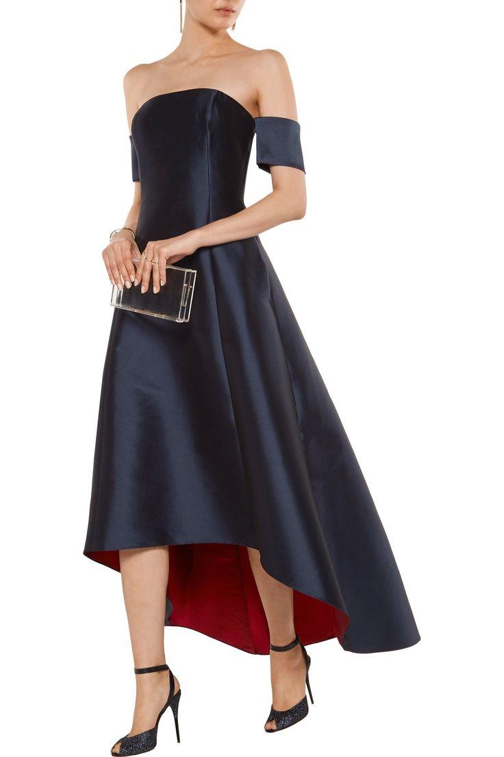 Noir Sachin & Babi Vanessa off-the-shoulder sateen gown