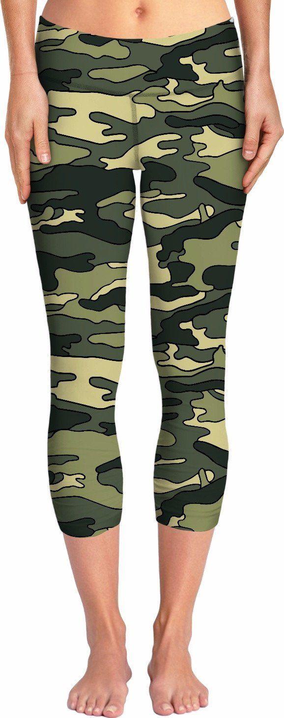 Green Camo Yoga Pants