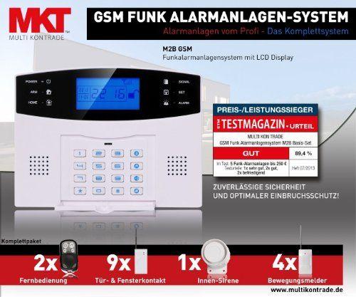 Perfect Multi Kon Trade GSM Funk Alarmanlage Set 4 (Preis Leistungssieger, LCD  Display
