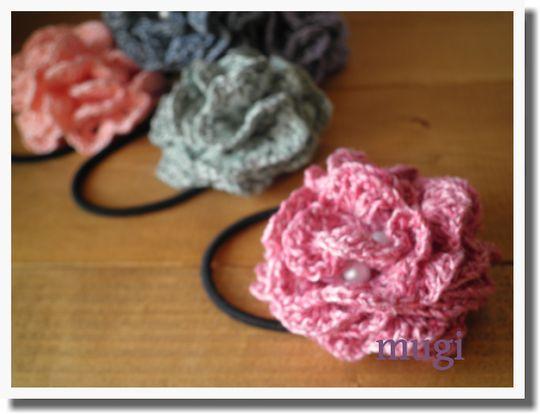 お花みたいな☆フリルたっぷりのヘアゴム♪の作り方 手順|10|編み物|編み物・手芸・ソーイング|作品カテゴリ|ハンドメイド、手作り作品の作り方ならアトリエ