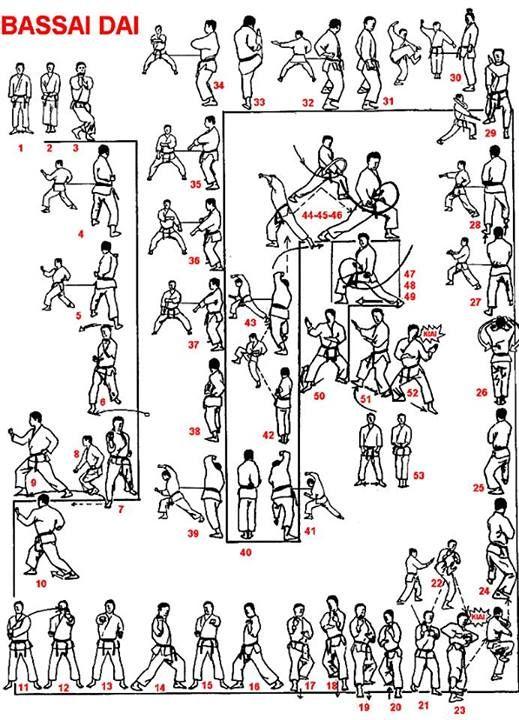 Shotokan Karate Black Belt Kata Bassai Dai with 53 moves. A combination of the base kata.