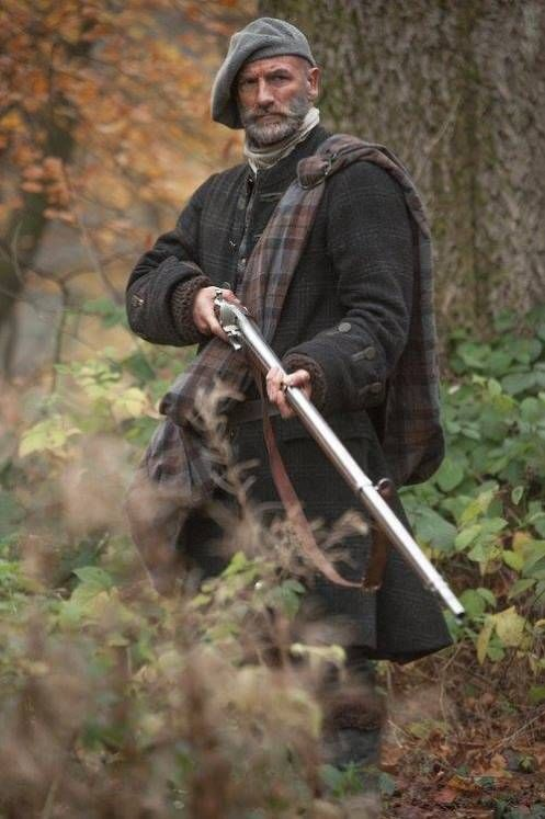 Graham McTavish as Dougal, with a musket, in an advertising still for Outlander, which starts tonight, 9 p.m. eastern, 8 p.m. central, on STARZ.