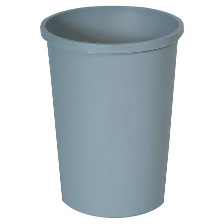 Rubbermaid Commercial Untouchable Waste Container, Round, Plastic, 11gal, Gray