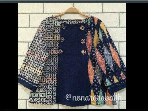 Instagram : nonararabatik Batik blouse