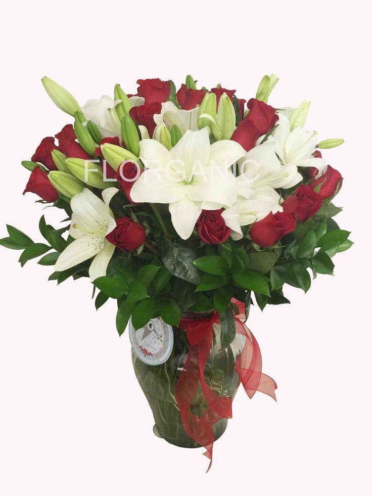 Dise 241 O Malta Imperial 13 Tallos De Lilis Con 24 Rosas
