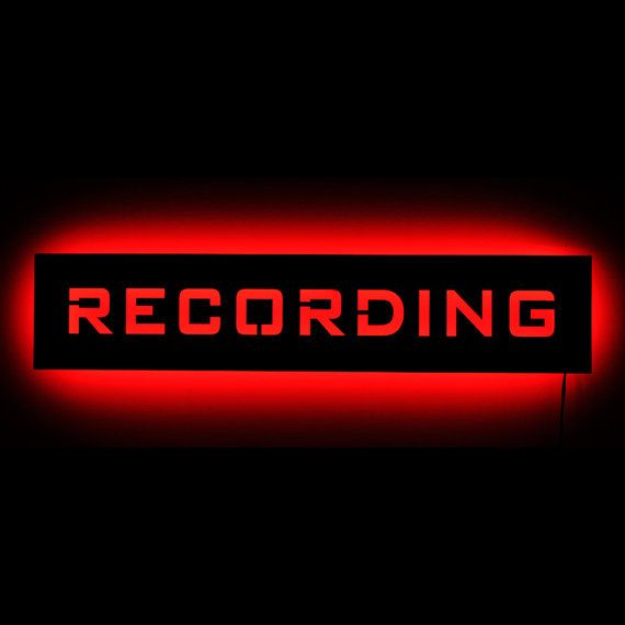 Lighted Recording Studio On Air Warning Light Sign - LED Backlit Neon Sign Alternative - Wall Art and Home Decor for Recording Artists on Etsy, $65.00