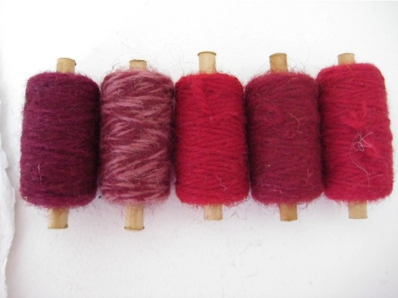 Vintage Wool tapestry spools  no3 by analogueshop on Etsy, $15.00