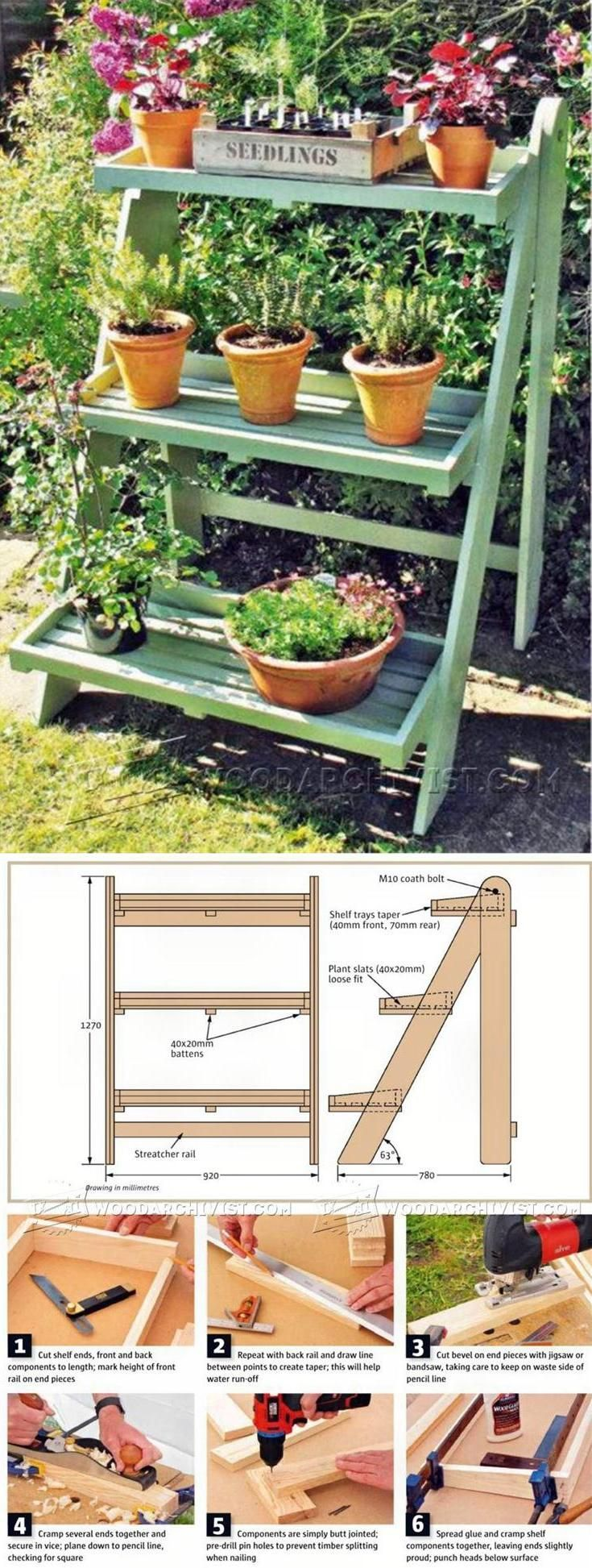 Ladder Planter Plans - Outdoor Plans and Projects | WoodArchivist.com
