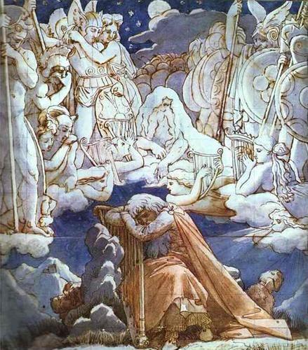 Le canzoni di Ossian, 1811-1814, inchiostro e acquerello, collezione privata