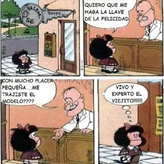 Mafalda y la llave de la felicidad