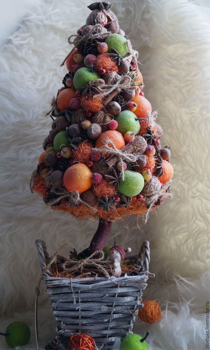 """Купить Топиарий """"Ароматная елочка"""" - тёмно-зелёный, топиарий дерево счастья, топиарий ручной работы"""