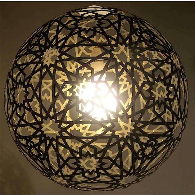 DIY Moresque Lamp: