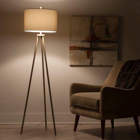 Ellis Tripod Floor Lamp Brass Project 62 Tripod Floor Lamps Floor Lamp Standing Lamp