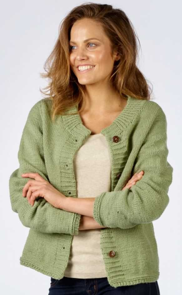 Easy Ladies Stocking Stitch Cardigan Free Knitting Pattern Download