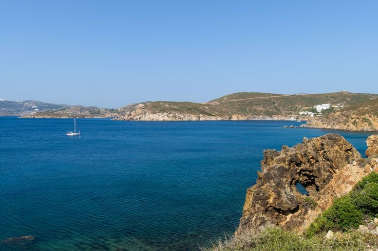 . «Lefkes» beach (in the northern part of the island, right across Ikaria), where you find the most fertile part of Patmos, in a cultivated valley.