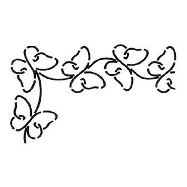 M s de 1000 im genes sobre decoracion de paredes en - Plantillas de mariposas para pintar ...
