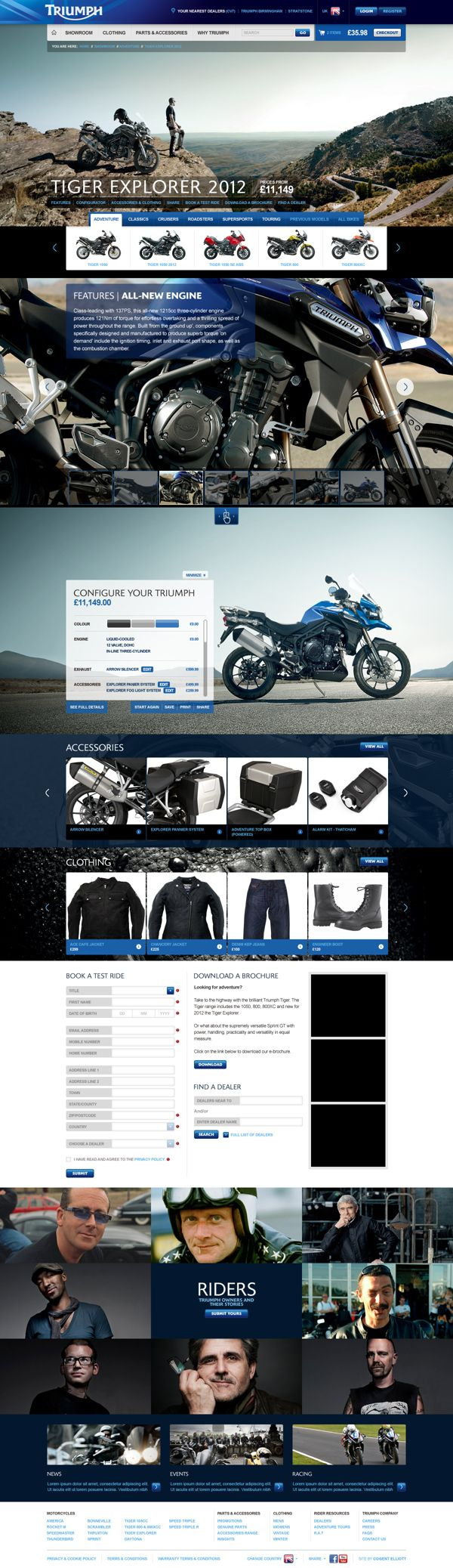 Triumph Motorcycles Website