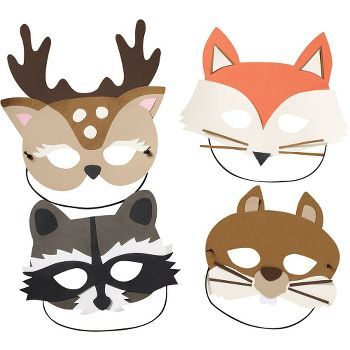 Woodland Masks Kit - these cute critters are the talk of the forest! Disguise…