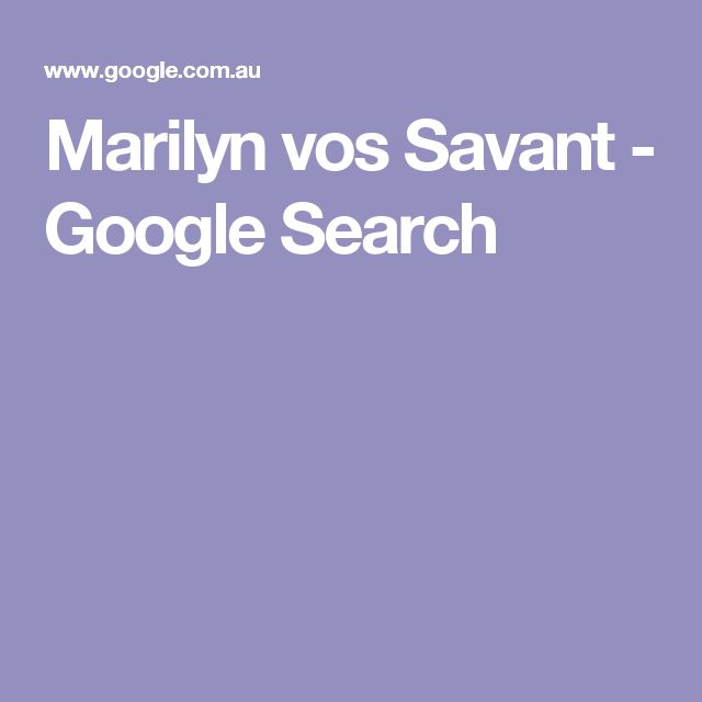 Marilyn vos Savant - Google Search
