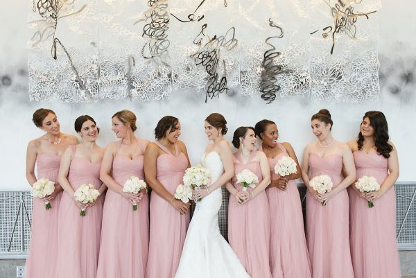 Pink Bridesmaid Dresses | Jessica Miller Photography on @loveincmag via @aislesociety