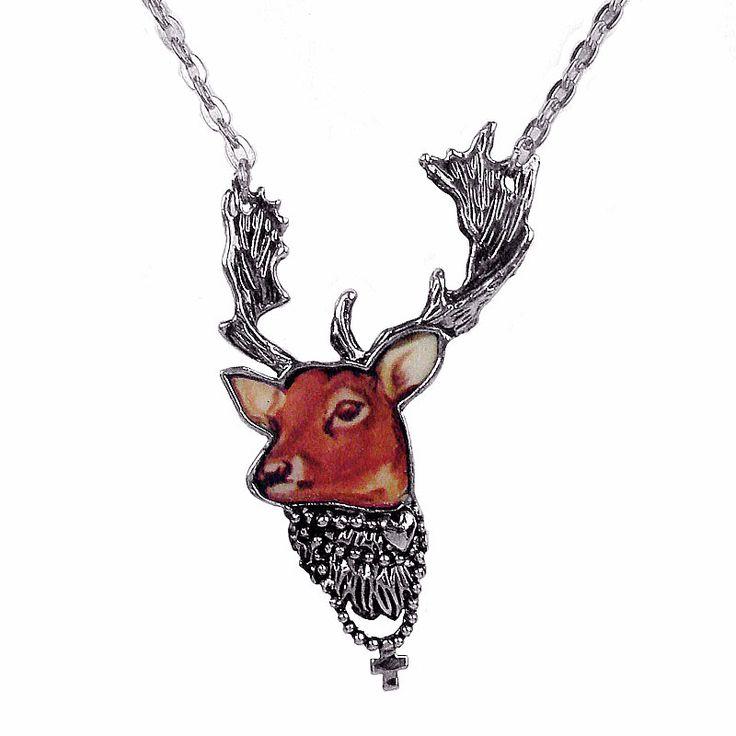 My Dear Deer Necklace in Silver