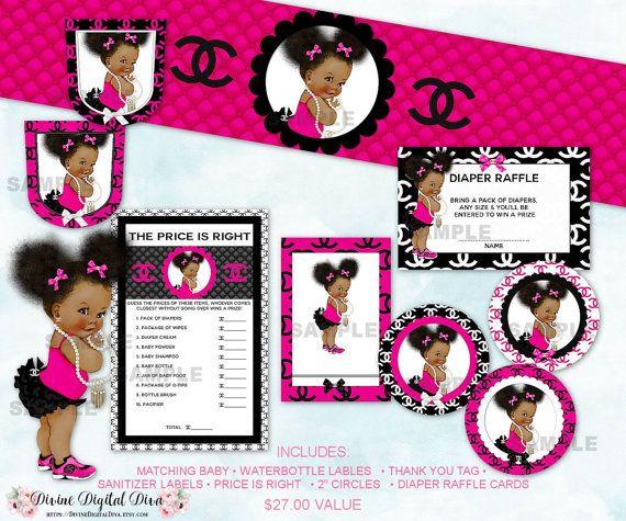 Princess Ruffle Pants Hot Pink Black & White | Baby Shower ...