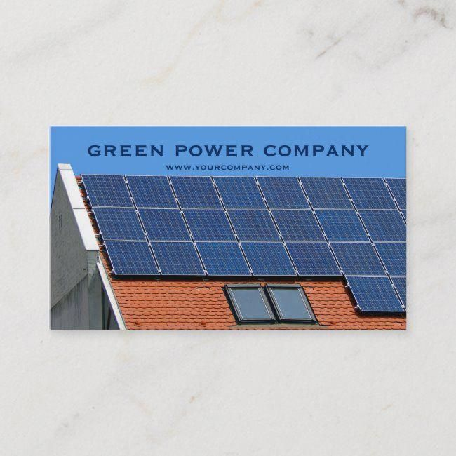 Solar Panels Green Energy Business Card Renewable Alternative Solar Power Environment Businesscard In 2020 Solar Panels Solar Energy Panels Solar Power Panels