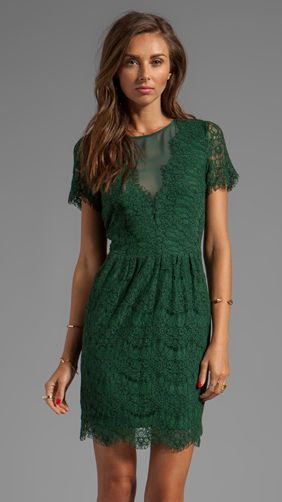 emerald lace dress...I heart this dress