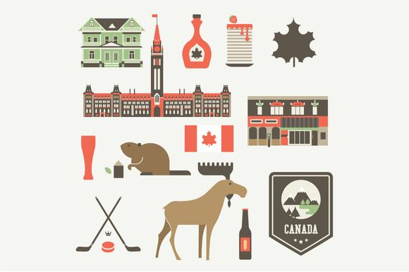 Check out Vector Canada set by vectorprro on Creative Market