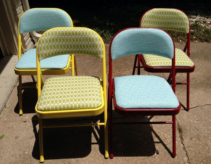 A while back, I saw these painted folding chairs on Pinterest and knew I had to give it a try. I already had four folding chairs from Costco, I'm pretty sure I got them for $15 each. I bought…