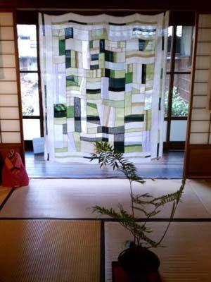 rich greens in a wide window