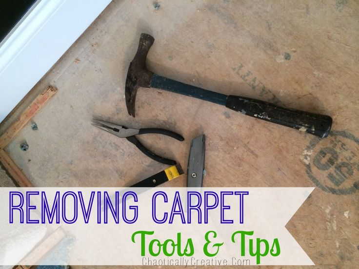 Tools and Tips for Removing Carpet... great ideas!  www.chaoticallycreative.com