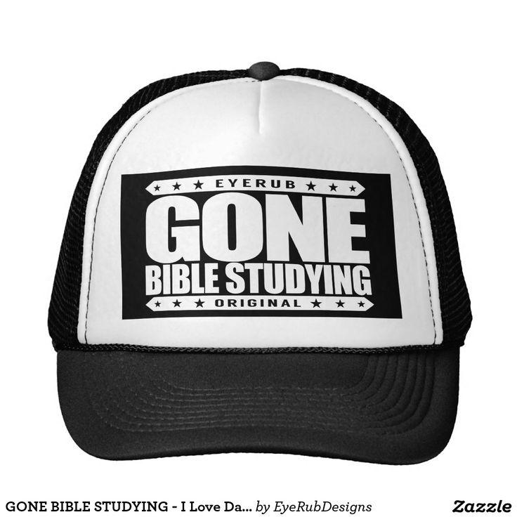 GONE BIBLE STUDYING - I Love Daily Gospel Reading Trucker Hat, Pure Heavenly White Design - #pope #vatican #holyfather #bibleverses #scripture #religion #god #bible #jesus #jesuschrist #catholic #christian #church #prayer #faith #biblestudy