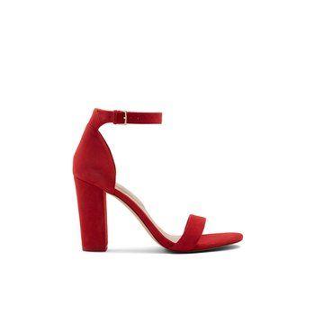 9c5d670295e Jerayclya Red Suede Women s Block heels