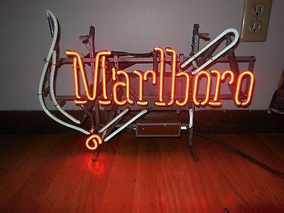 Marlboro Cigarettes Neon Sign Real Neon Light