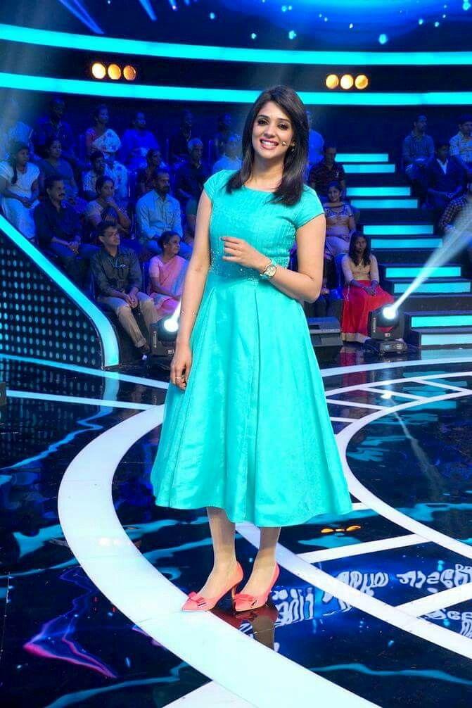 Nyla Usha | Mollywood actress | blue dress