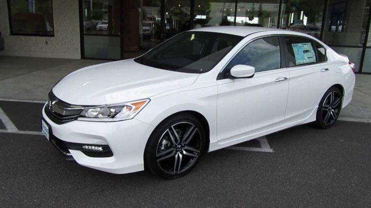 2017 Honda Accord White Sideview