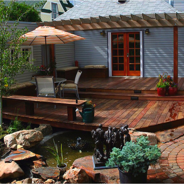 21 best ponds and decks images on pinterest water for Koi pond deck