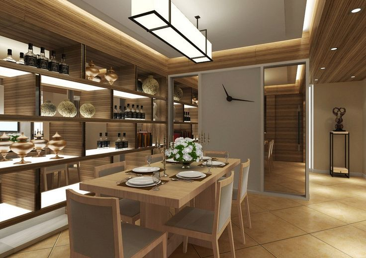 Creative ideas for dining room cabinets modern dining - Dining room decorating ideas modern ...
