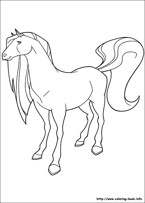 horseland 22 coloring page for kids and adults from cartoons coloring pages horseland coloring pages - Horseland Coloring Pages Sunburst