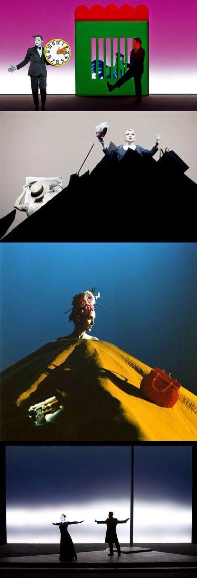 Play: Happy Days, Samuel Beckett, Set: Robert Wilson