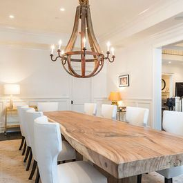 Natural Edge Dining Table. Encinitas Homes, Encinitas Coast Life http://www.encinitascoastlife.com Encinitas Real Estate