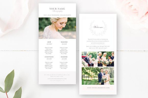 Rack Card Template for Photographers. Flyer Templates